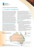 Living with Climate Change: Climate Change Impacts and Adaptation Factsheets for Australia: Emergency Management