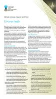 Living with Climate Change: Climate Change Impacts and Adaptation Factsheets for Australia: Human Health