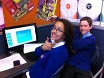 Safia and Casey developing student speak writing language