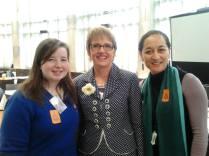 Rebekah, Hon Jo Goodhew and Board of Trustees Member Helen Potiki