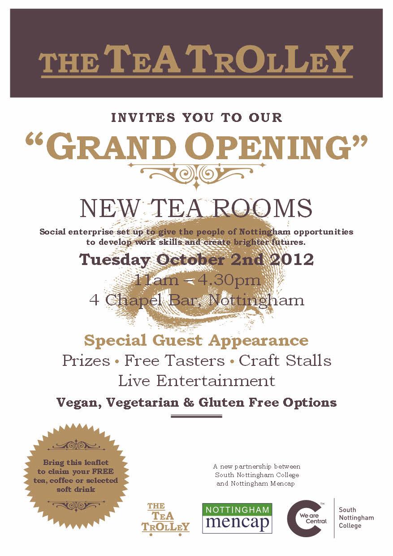 tea trolley grand opening
