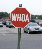 whoa sign