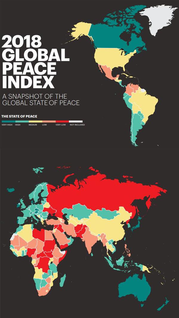 世界平和度指数・GLOBAL PEACE INDEX 2018