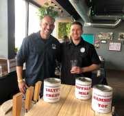 Salty Buffalo Brewing-Vista Fire #4, 'Buffalo's Milk' Milk Stout/'Salty's Cream' Vanilla Cream Ale- #1 Beer in Contest!, 'Hammer Toe' Hazy IPA, Brewers-Chris 'Buffalo' Aldrich & Josh 'Eagle' Spann