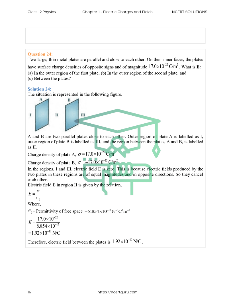 Class 12 Physic Chapter 1