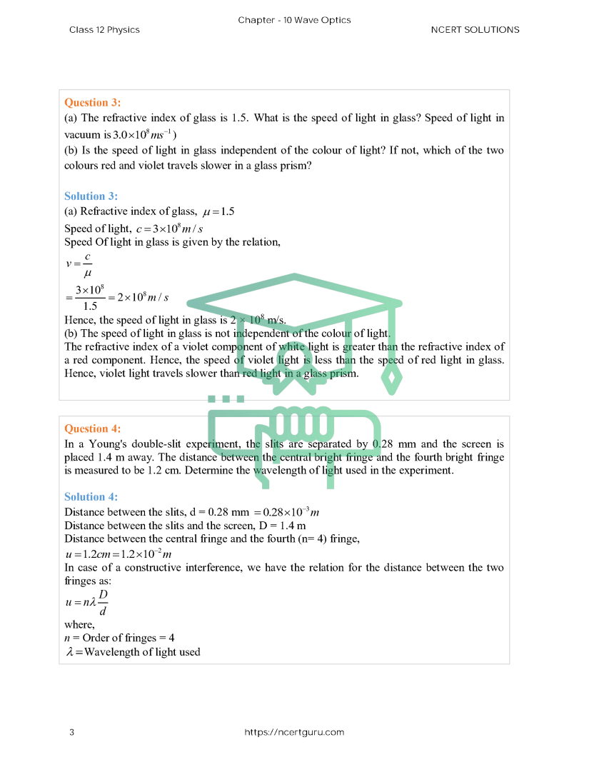 NCERT Solutions for Class 12 Physics Chapter 10