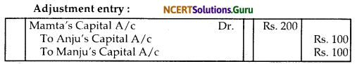 NCERT Solutions for Class 12 Accountancy Chapter 2 Accounting for Partnership Basic Concepts 102