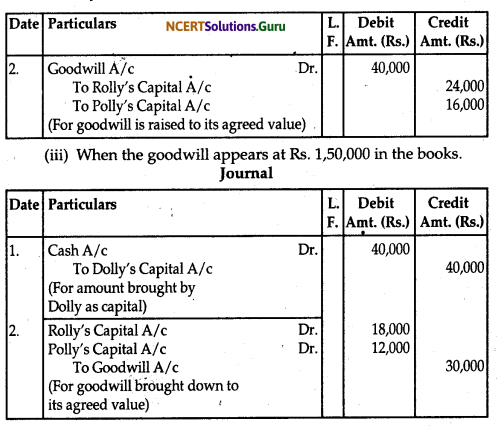 NCERT Solutions for Class 12 Accountancy Chapter 3 Reconstitution of Partnership Firm Admission of a Partner 33