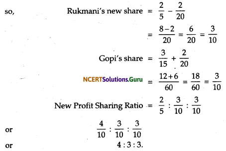 NCERT Solutions for Class 12 Accountancy Chapter 3 Reconstitution of Partnership Firm Admission of a Partner 64