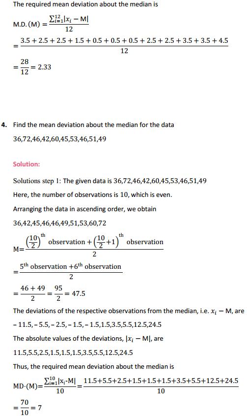 NCERT Solutions for Class 11 Maths Chapter 15 Statistics Ex 15.1 4