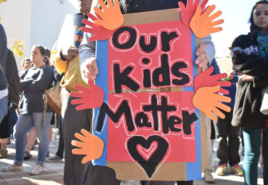 'Our Kids Matter!' #Enough NCF Walkout draws crowd of 300