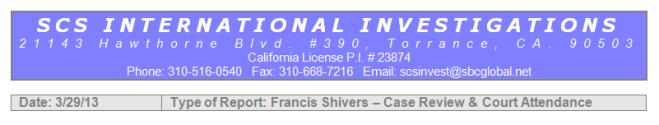 SCS International Investigations
