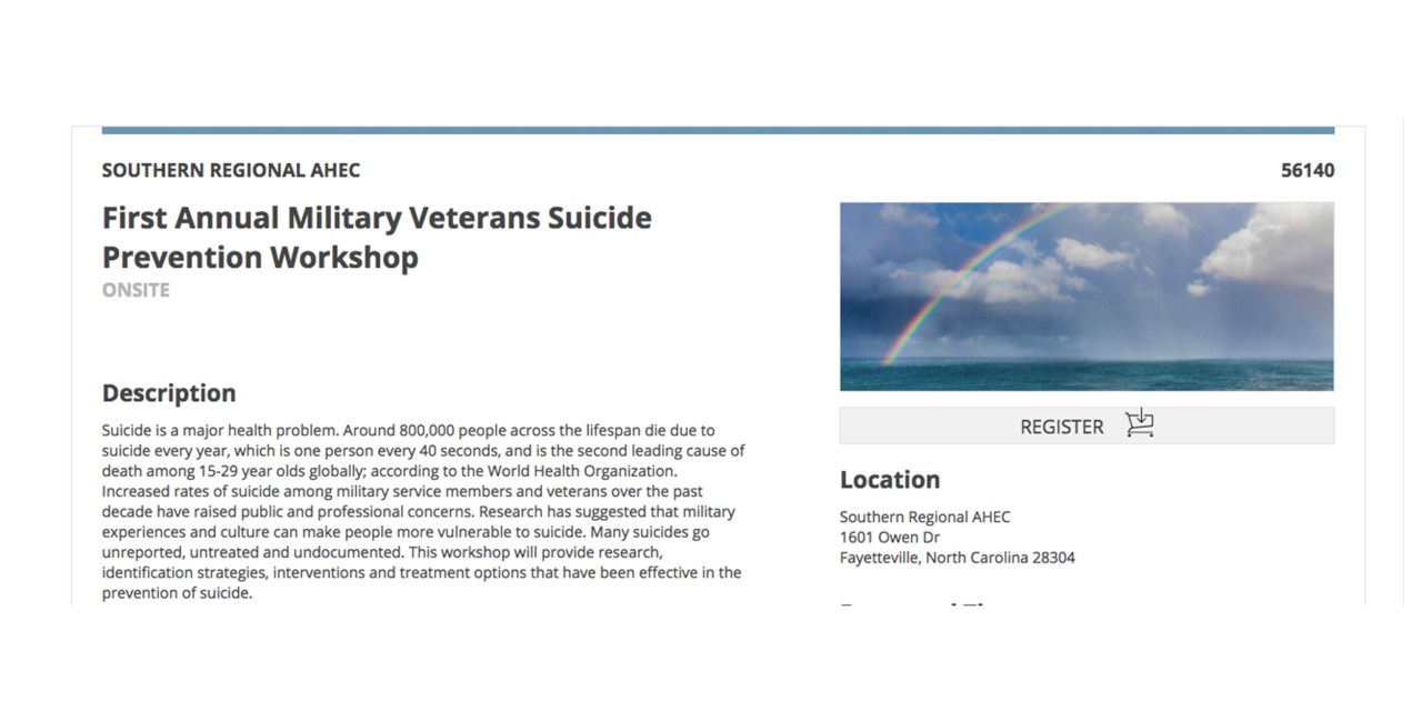 AHEC to Host First Annual Military Veterans Suicide Prevention Workshop on June 1