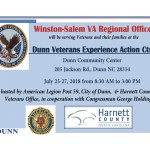 Dunn Veterans Experience Action Center on July 25-27