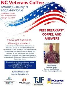 Veterans Coffee @ Trailblazers Studios | Raleigh | North Carolina | United States