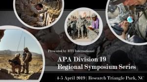 APA Division 19: Regional Symposium Series @ RTI International