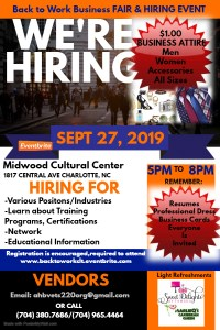 Back to Work Business Fair @ Midwood Cultural Center | Charlotte | North Carolina | United States