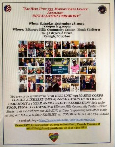 Tar Heel Unit 733 MCLA Installation Ceremony & 1 Year Anniversary Celebration @ Biltmore Hills Community Center | Raleigh | North Carolina | United States