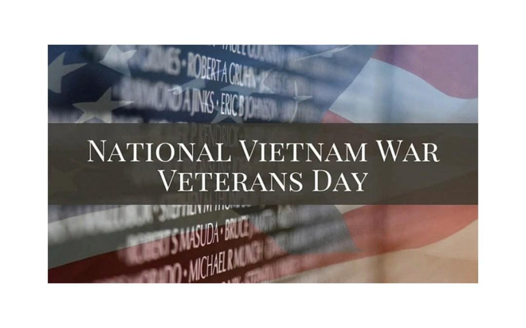 National Vietnam War Veterans Day – March 29