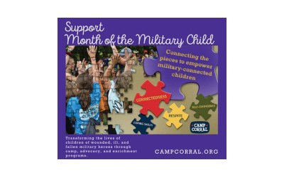 Purple Up! Month of the Military Child