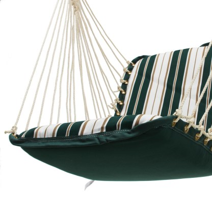 Cushioned Single Swing - Green and White Stripe - S-171