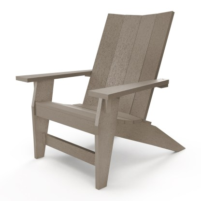 Hatteras Adirondack Chair - Weatherwood - HHAC1-K-WW