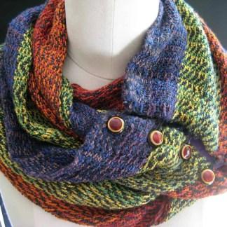 Jewel-tone infinity scarf