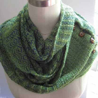 Shades of green infinity scarf