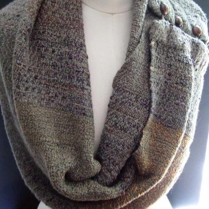Shades of gray-green infinity scarf
