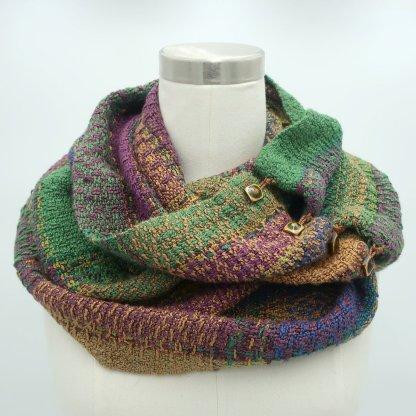 infinity scarf- amethyst