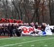 The Rams run out onto the field at the beginning of the game Photo by Kara Fahey