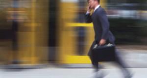 Man Running to Work