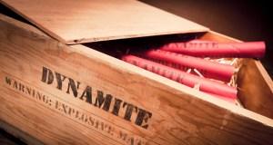 photo of dynamite sticks on a box