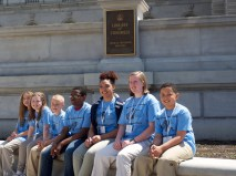 Team Purple taking a break at the Library of Congress