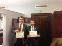 Josh Woodward and Representative Walker