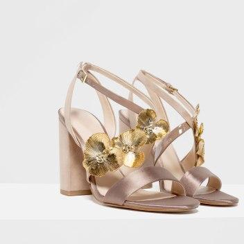 floral heeled sandals zara s:s 16