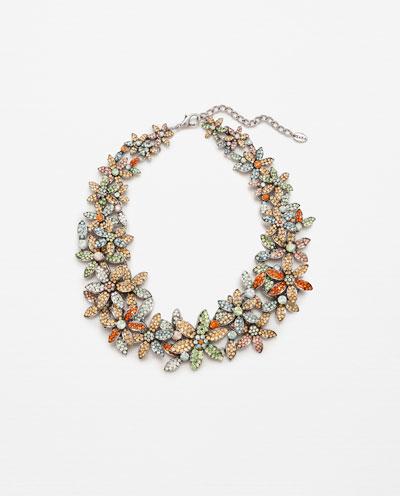 Floral necklace ZARA S:S 16