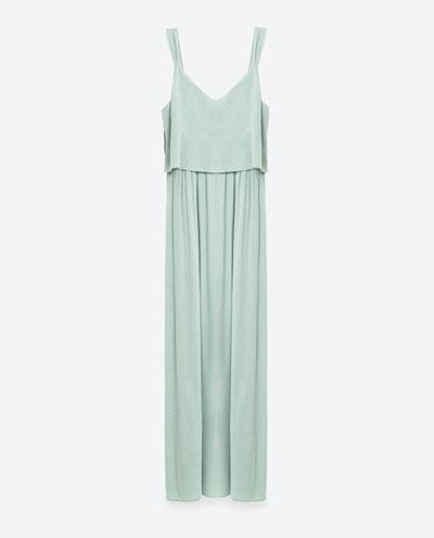 Green layered dress ZARA S:S 16