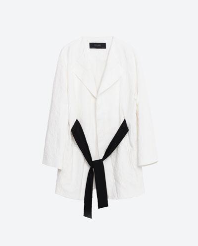 White Jacquard Blazer S:S 16