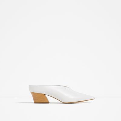 white leather mules zara s:s16