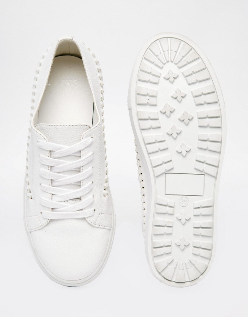 woven trainers
