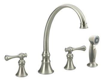 ... Kohler Two Handle Kitchen Faucet Brushed Nickel