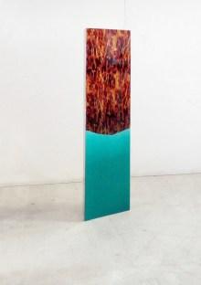 Cristiano Tassinari, Displayer, 100x40x70cm, water transfer printing on painted aluminium, steel, dibond, 2017