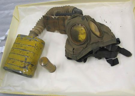 Gas mask used in France during WWI