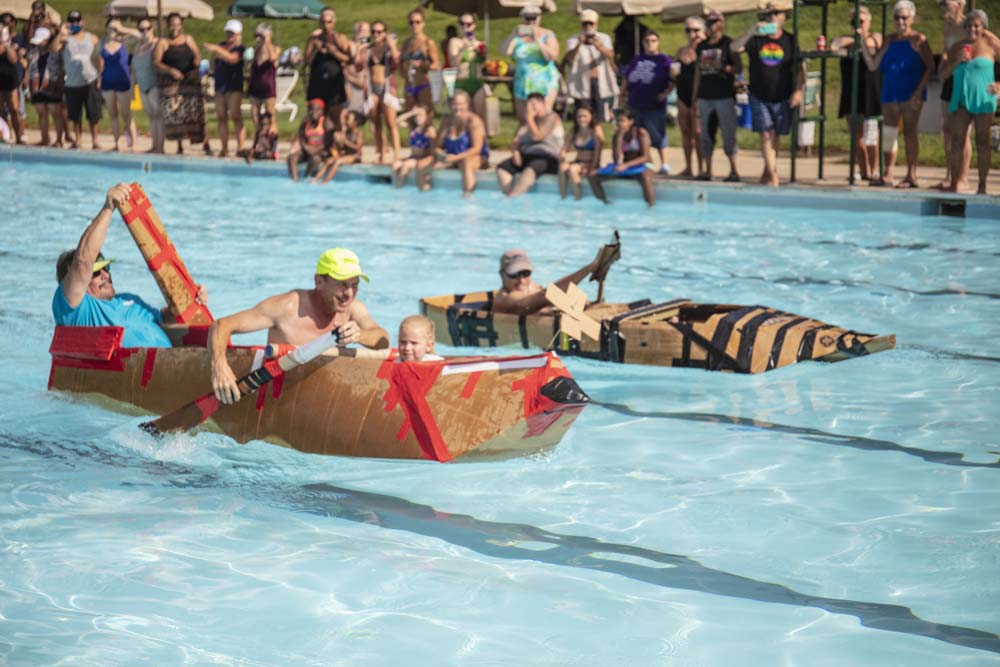 Cardboard Boat Race... Labor Day