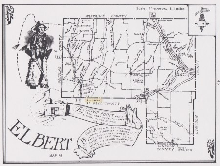 Newton, John Dallas, Elbert County, CO 1887 map