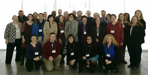 Attendees at an SCI-MidAtlantic meeting, hosted by Barnard College on November 15, 2014.