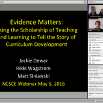 Evidence Matters: Using the Scholarship of Teaching and Learning to Tell the Story of Curriculum Development