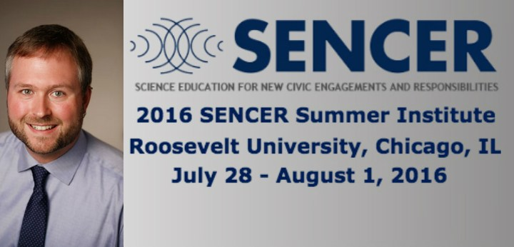 """Dr. Sean Gehrke to Deliver SSI 2016 Opening Plenary Defining SENCER as a """"Community of Transformation"""""""