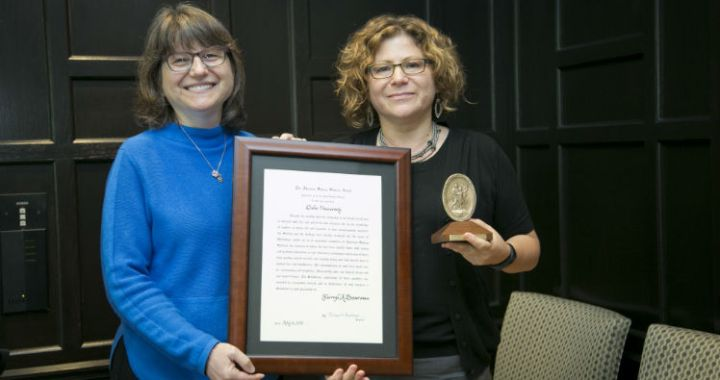 Sherryl Broverman Recognized for Excellence of Character and Humanitarian Service. Photo credit: Les Todd, Duke Photography